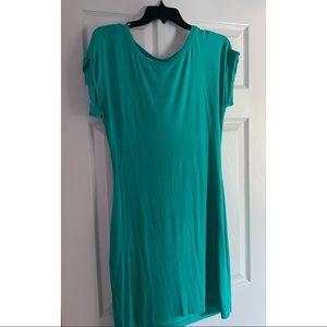 TART teal mini dress size small